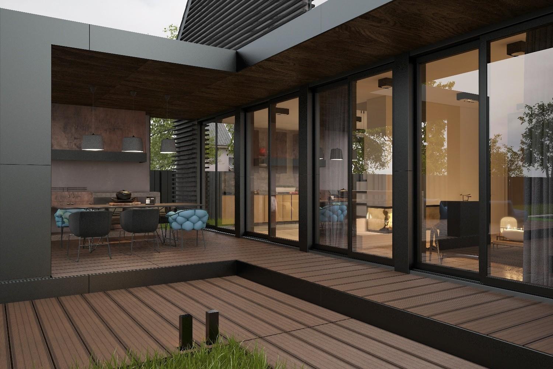 панорамное остекление для загородного дома